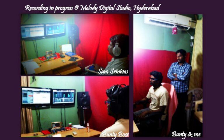 Recording at Melody Digital Studio